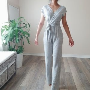 Urban outfitters gray wrap top soft feel jumpsuit